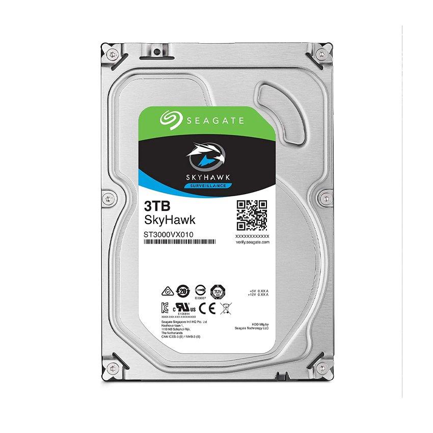 Ổ cứng HDD Seagate SkyHawk SURVEILLANCE 3TB 3.5 inch 5400RPM, SATA3 6GB/s, 64MB Cache