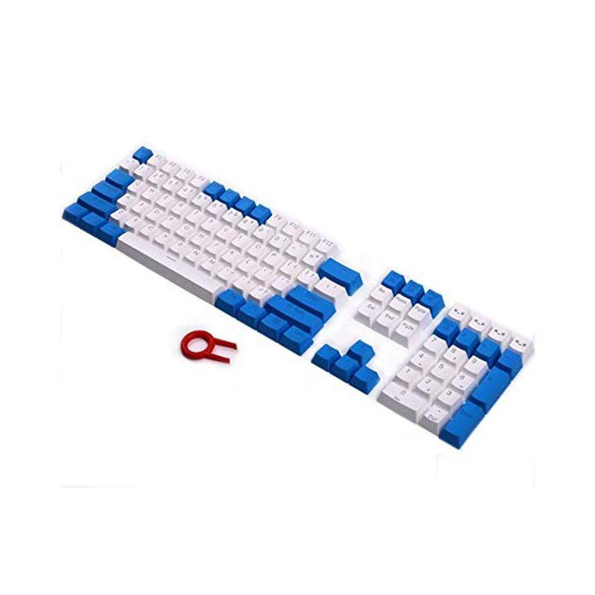 Keycap 108 - Blue White (PBT Xuyên LED).
