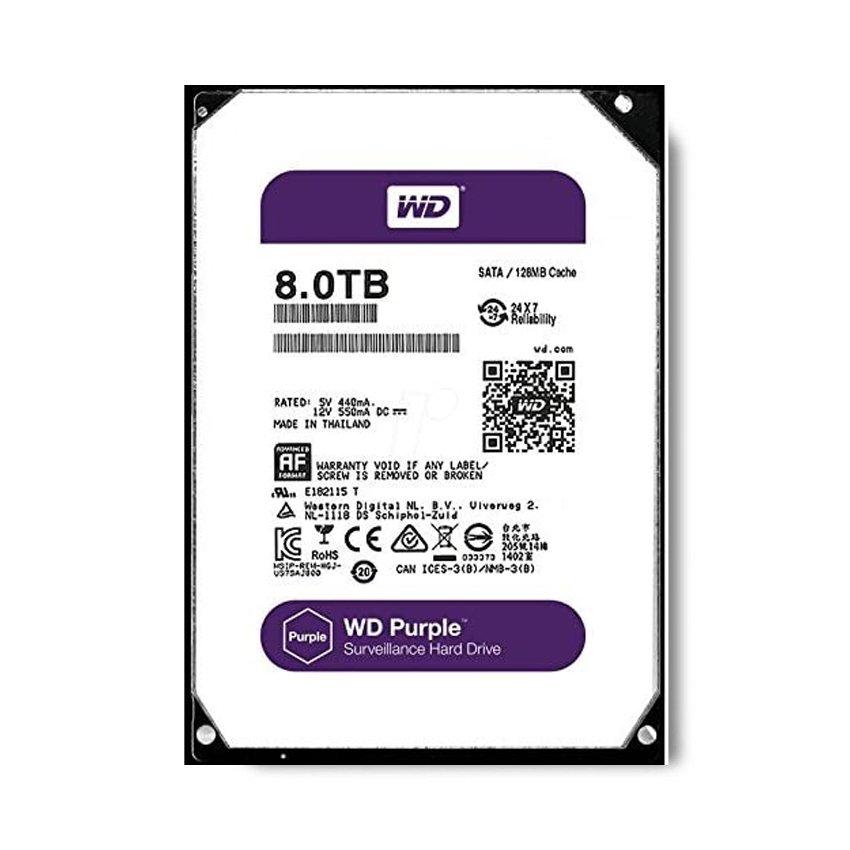 HDD Western Purple 8TB Sata 3 128Mb