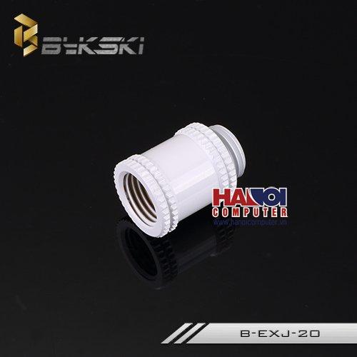 Fitting Bykski Extend 20mm Male - Female Deluxe White.