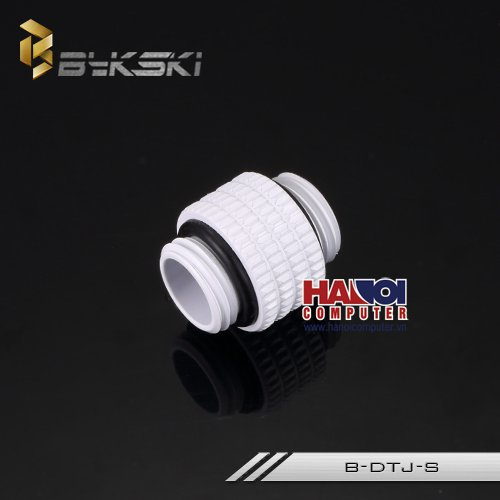 Fitting Bykski Male - Male Rotary Deluxe White.