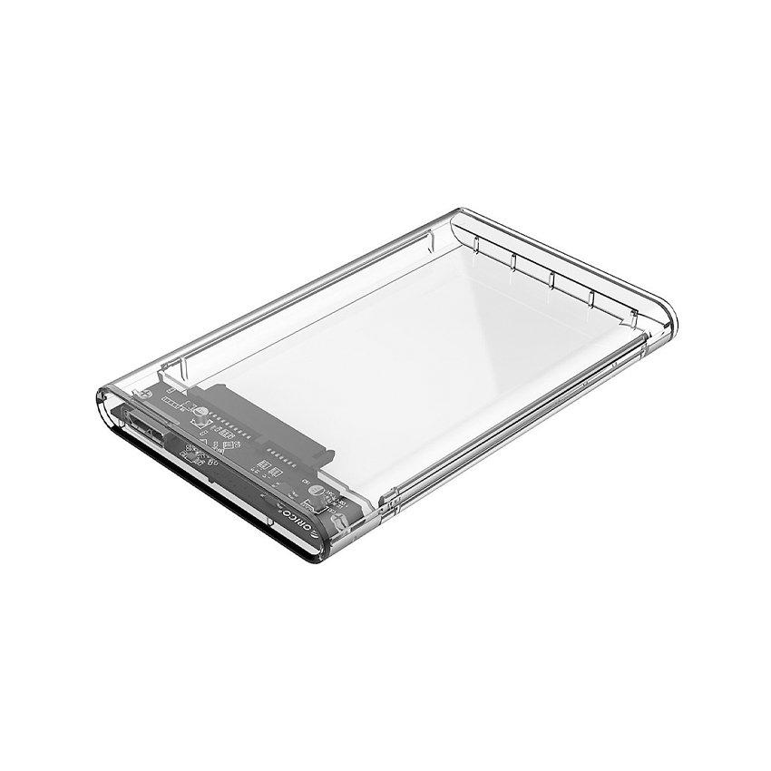 HDD Box 2.5 inch Orico 2139U3 3.0 Thiêt kế trong suốt