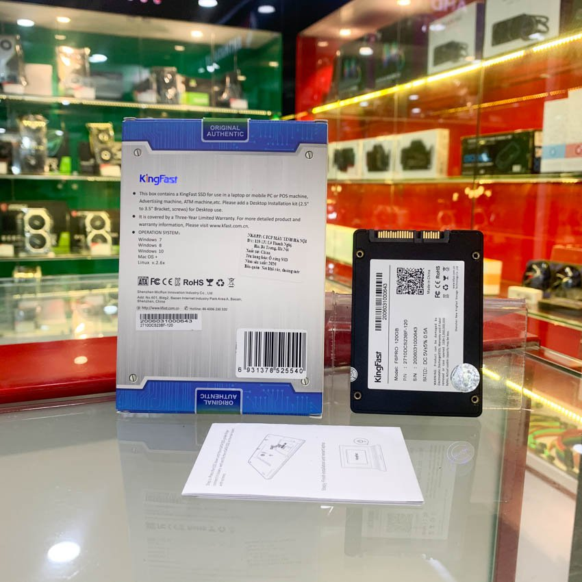 Ổ cứng SSD Kingfast F6 Pro 120GB 2.5 inch SATA3 (Đọc 550MB/s - Ghi 450MB/s)