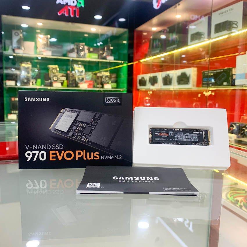 Ổ cứng SSD Samsung 970 EVO Plus 500GB M.2 PCIe NVMe 3x4 (Đọc 3500MB/s - Ghi 2300MB/s) - (MZ-V7S500BW)
