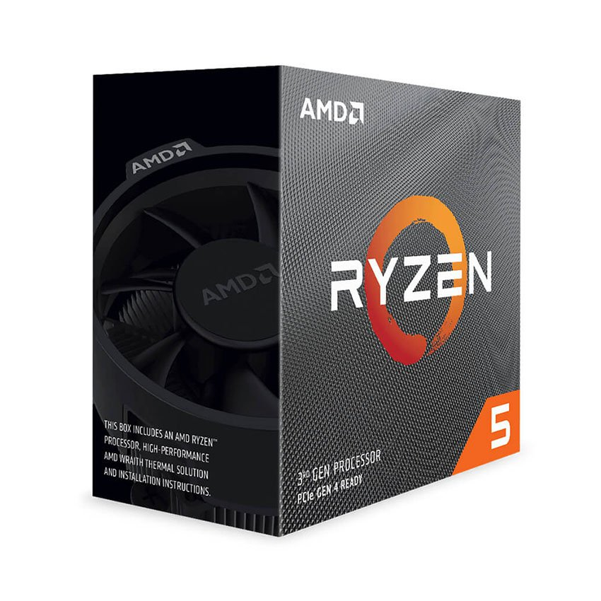 CPU AMDRyzen 5 3600 (3.6GHz turbo up to 4.2GHz, 6 nhân 12 luồng, 35MB Cache, 65W) - Socket AMD AM4