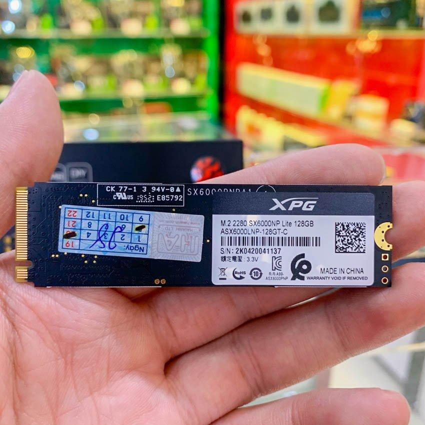 Ổ cứng SSD Adata SX6000NP Lite 128GB M.2 2280 PCIe NVMe Gen 3x4 (Đọc 1800MB/s - Ghi 600MB/s)