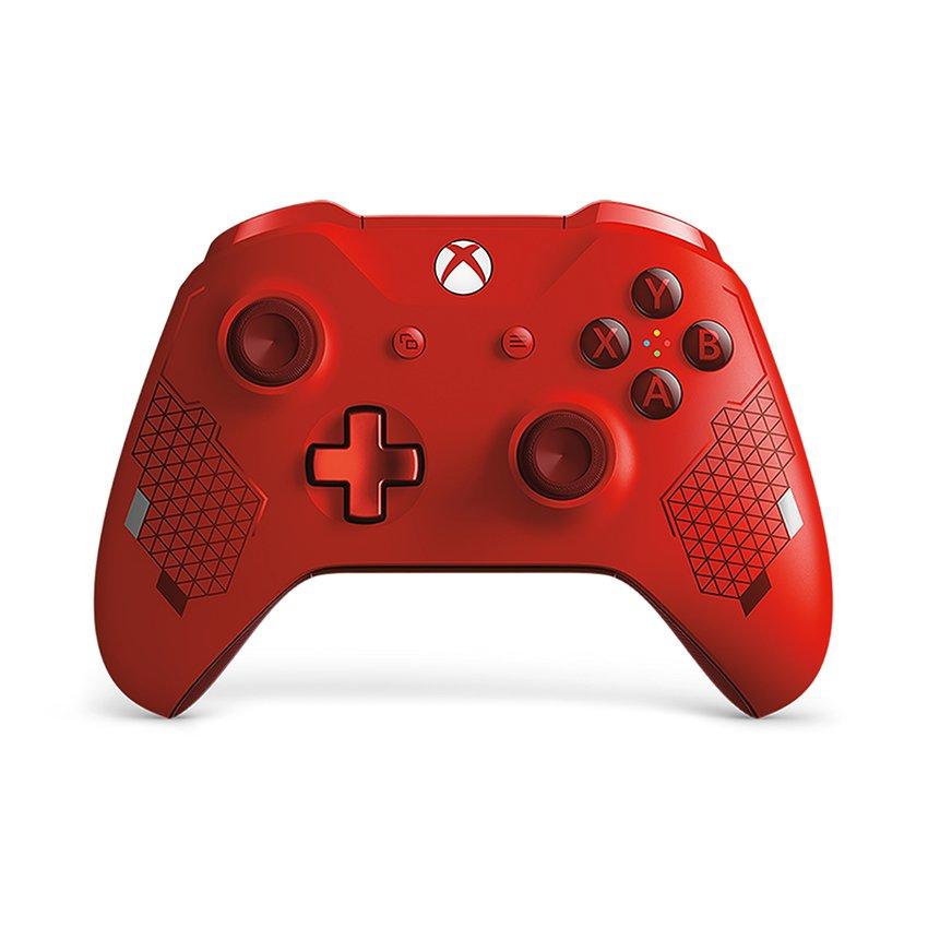 Tay cầm chơi game không dây Xbox One S - Sport Red