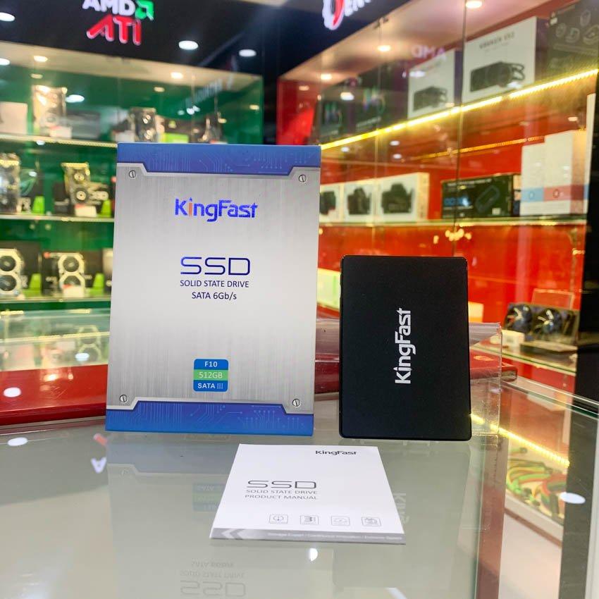 Ổ cứng SSD KINGFAST F10 512GB Sata3 2.5 inch (Đọc 550MB/s - Ghi 450MB/s) - (F10-512GB)