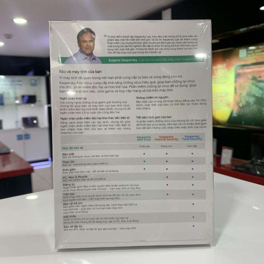 Kaspersky antivirus -1PC/1Năm