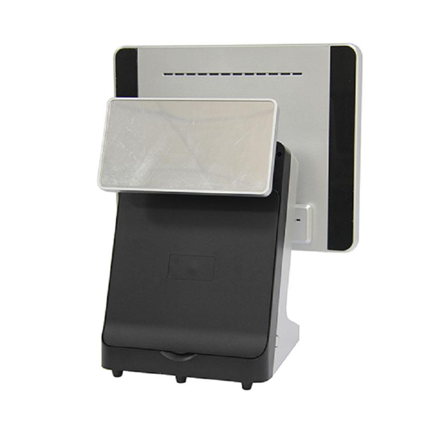Máy POS bán hàng SC-120A ( i3/4G DDRIII RAM/64G SSD/1x 15inch/1x 8inch/Black ) - Tích hợp K58