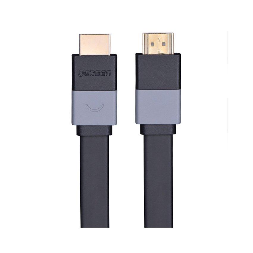 Cáp HDMI 2m Ugreen 30110 mỏng dẹt,  hỗ trợ 3D 4K, chuẩn 1.4