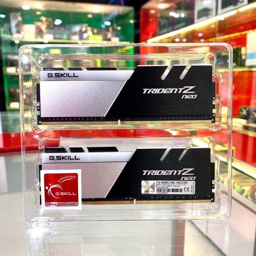 RAM Desktop Gskill Trident Z Neo (F4-3600C16D-16GTZNC) 16GB (2x8GB) DDR4 3600MHz