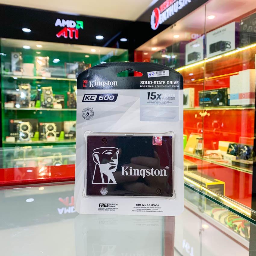 Ổ cứng SSD Kingston KC600 1024GB 2.5 inch SATA3 (Đọc 550MB/s - Ghi 520MB/s) - (KC600/1024GB)