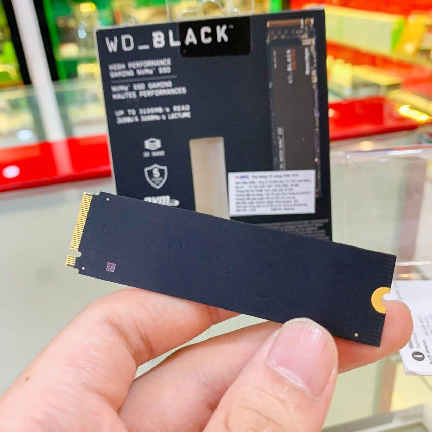 Ổ cứng SSD Western SN750 Black 1TB M.2 2280 PCIe NVMe 3x4 (Đọc 3470MB/s - Ghi 3000MB/s) - (WDS100T3X0C)