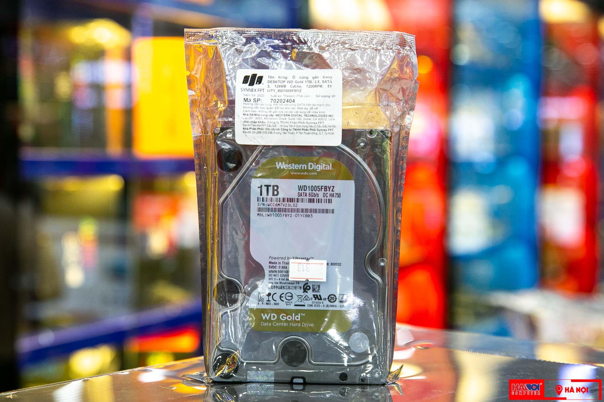 HDD WD Gold (1TB/3.5/SATA 3/128MB Cache/7200RPM) (WD1005FBYZ)