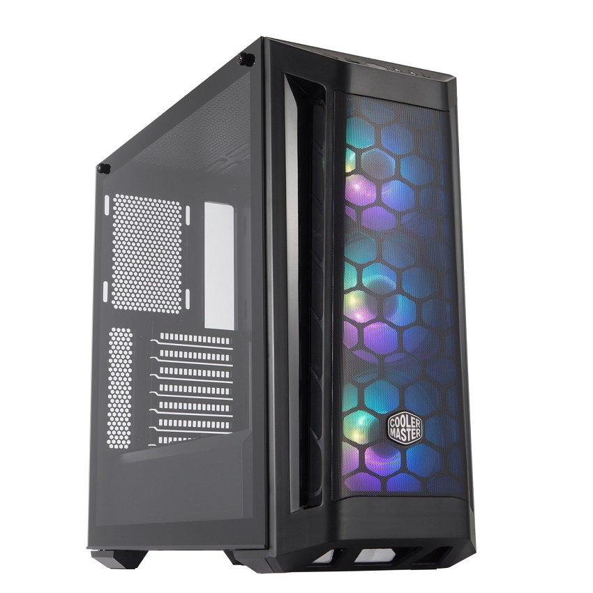 Vỏ Case Cooler Master MasterBox MB511  ARGB (Mid Tower/Màu đen/Led ARGB/Mặt lưới)