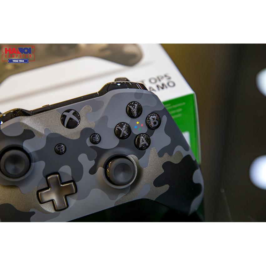 Tay cầm chơi game không dây Xbox One S - Night Ops Camo Special Edition