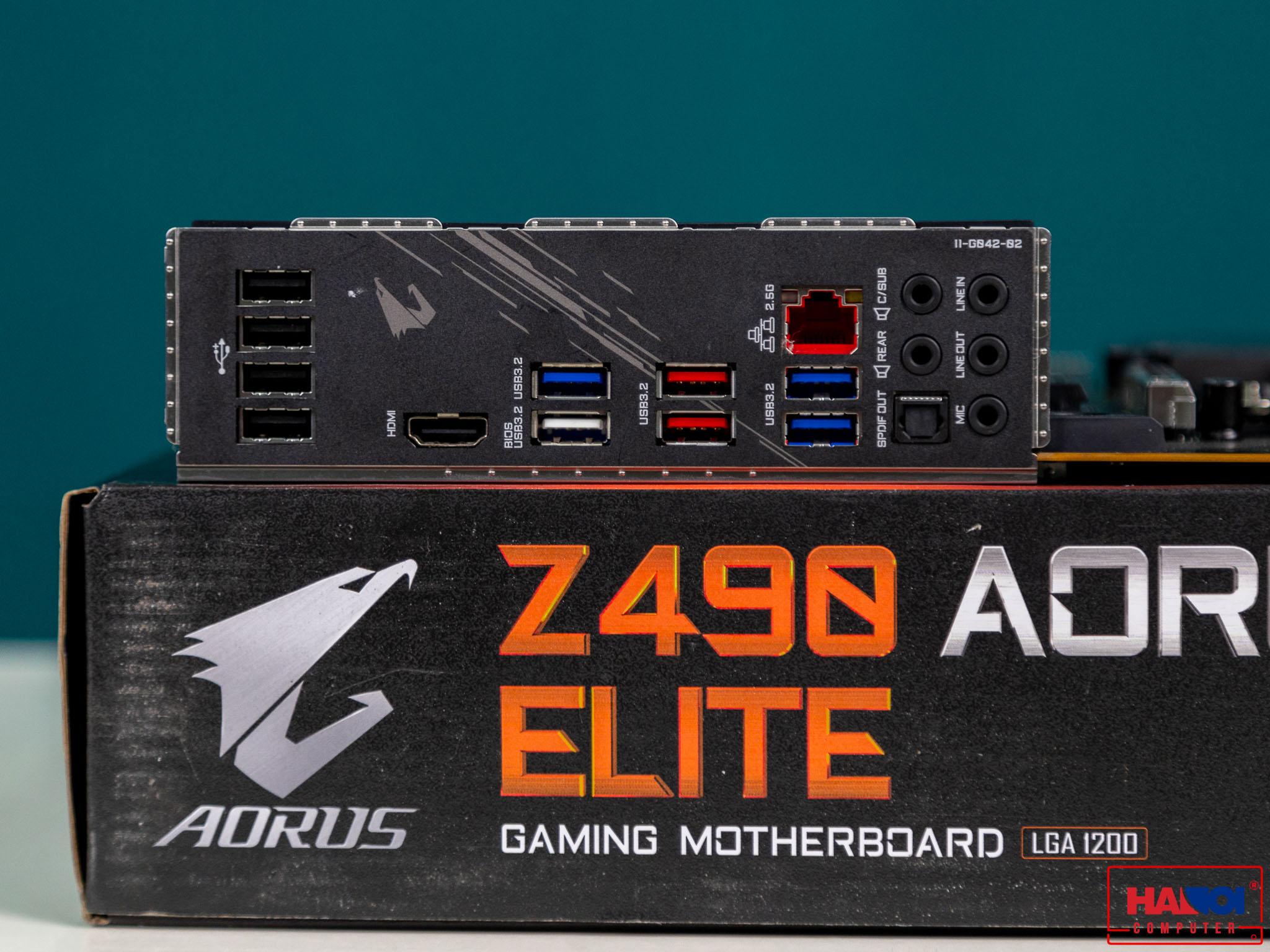 Mainboard GIGABYTE Z490 AORUS ELITE (Intel Z490, Socket 1200, ATX, 4 khe RAM DDR4)