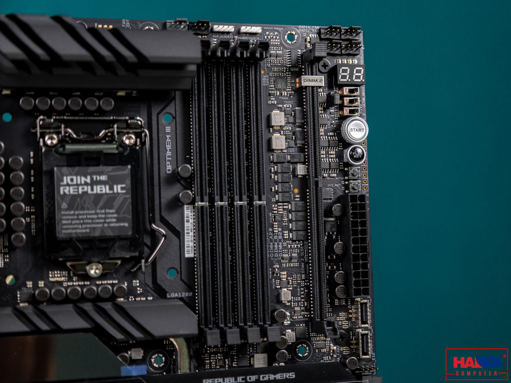 Mainboard ASUS ROG MAXIMUS XII EXTREME (Intel Z490, Socket 1200, E-ATX, 4 khe RAM DDR4)