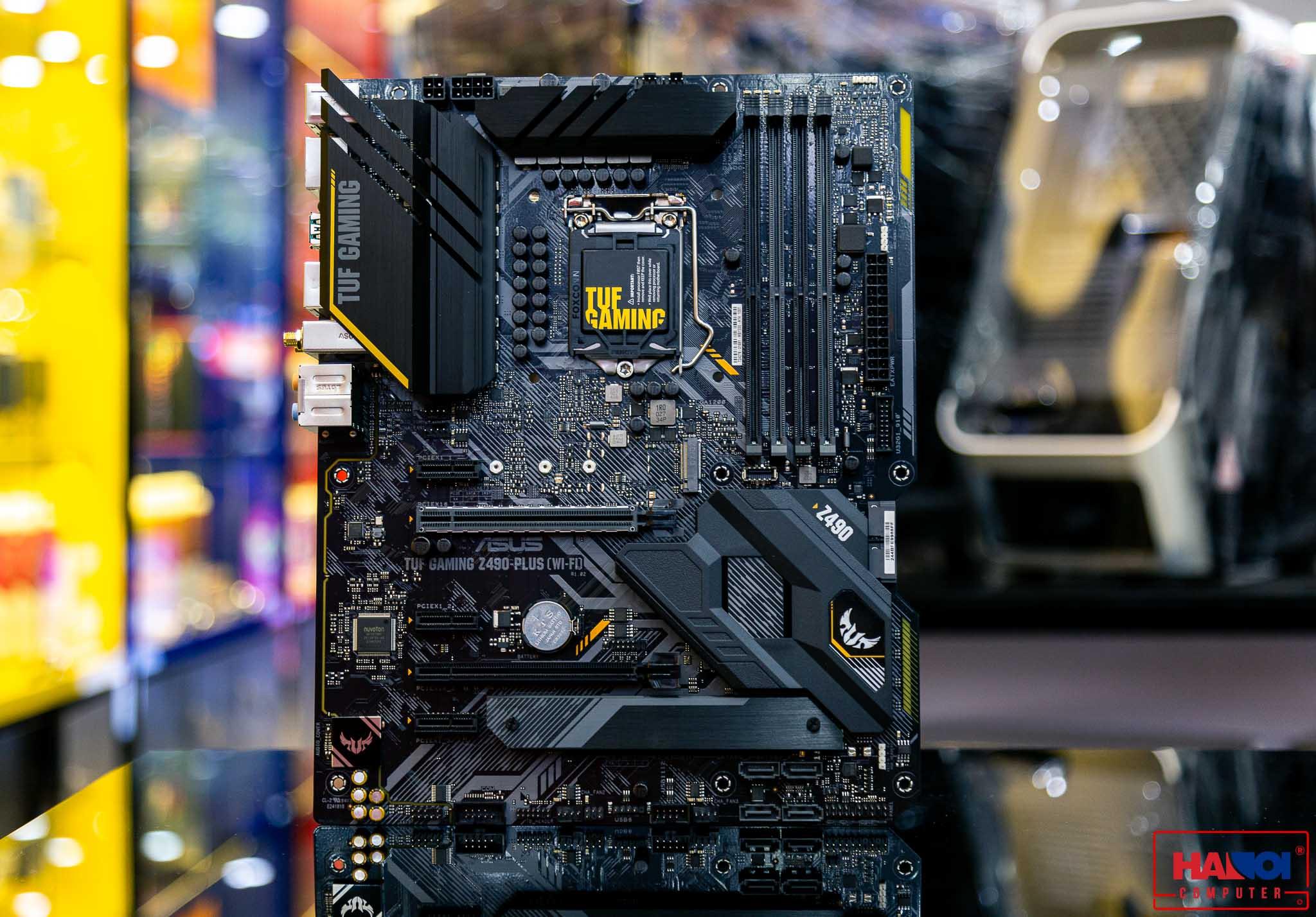 Mainboard ASUS TUF Gaming Z490-PLUS (WI-FI) (Intel Z490, Socket 1200, ATX, 4 khe RAM DDR4)