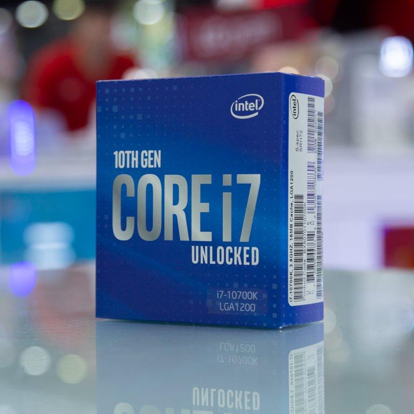 CPU Intel Core i7-10700K(3.8GHz turbo up to 5.1GHz, 8 nhân 16 luồng, 16MB Cache, 125W) - Socket Intel LGA 1200