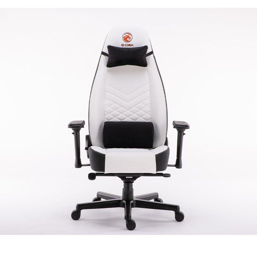 Ghế chơi game Bigboss EGC2021 Lux màu trắng - E-Dra  có thiết kế công thái học