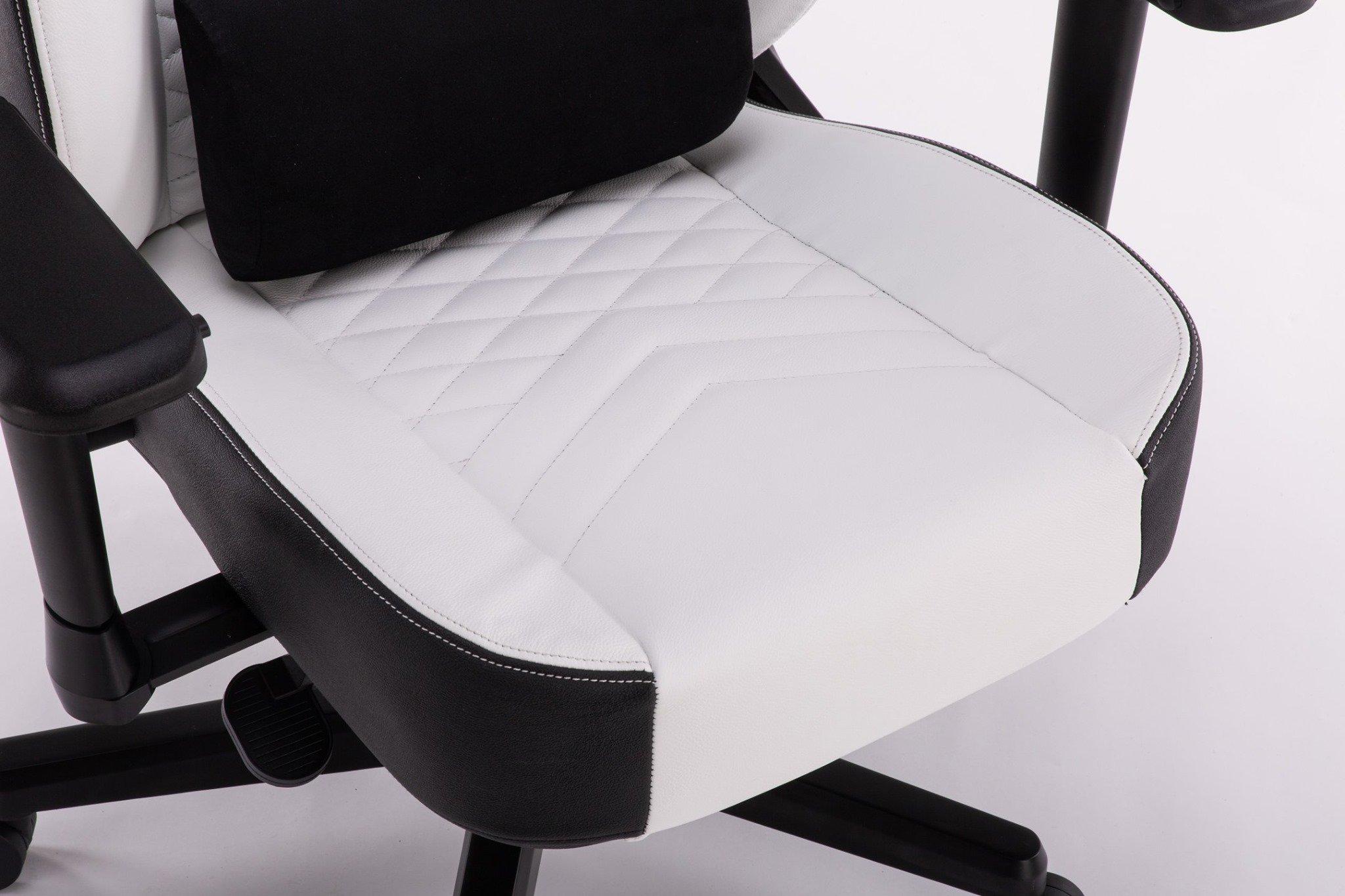 Ghế chơi game Bigboss EGC2021 Lux màu trắng - E-Dra  sử dụng đệm nguyên khối siêu dày
