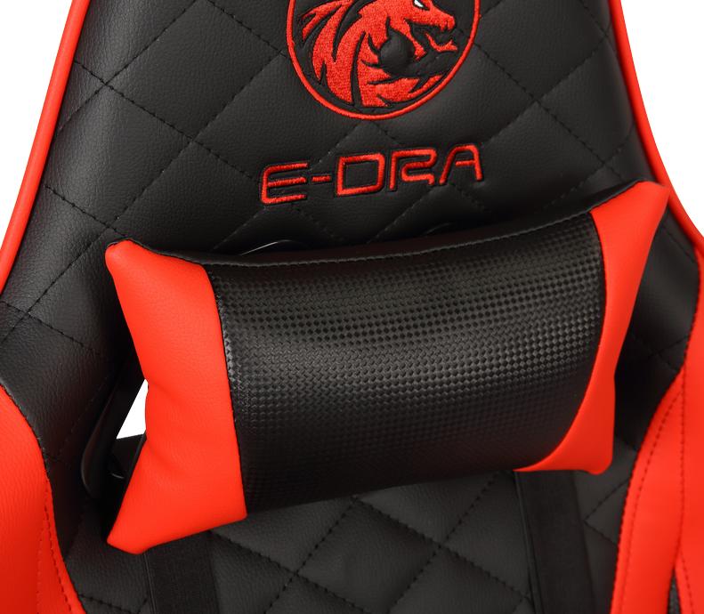 Ghế Gaming Ares EGC207 Màu Đen/Đỏ - E-Dra sử dụng da PU cao cấp