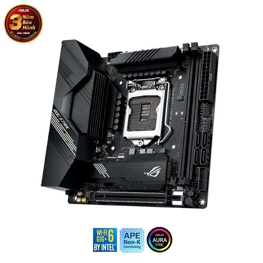 Mainboard ASUS ROG STRIX B460-I GAMING (Intel B460, Socket 1200, Mini-ITX, 2 khe Ram DDR4)