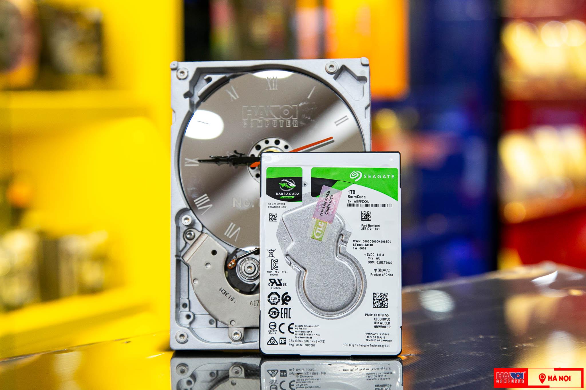 Ổ cứng HDD Laptop Seagate Barracuda 1TB 2.5 Inch, 5400RPM SATA3 6GB/s, 128MB Cache