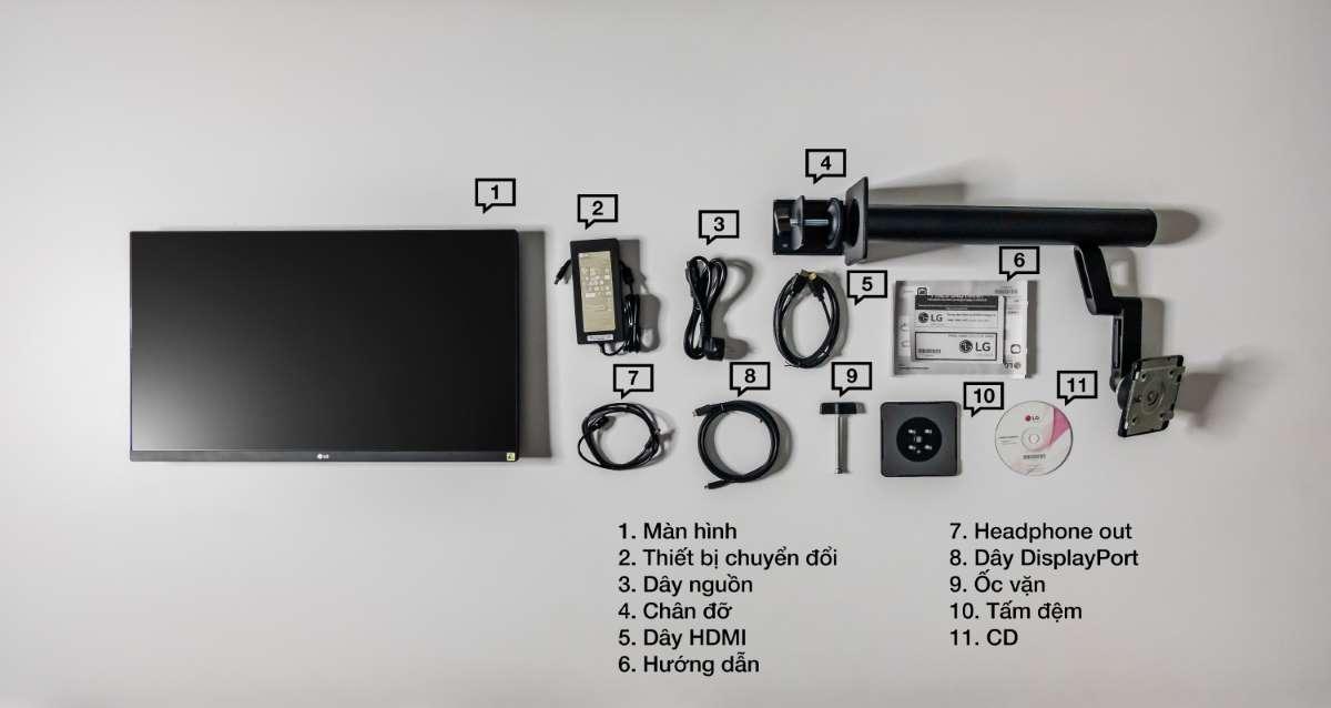 Màn hình LG 27QN880-B phụ kiện