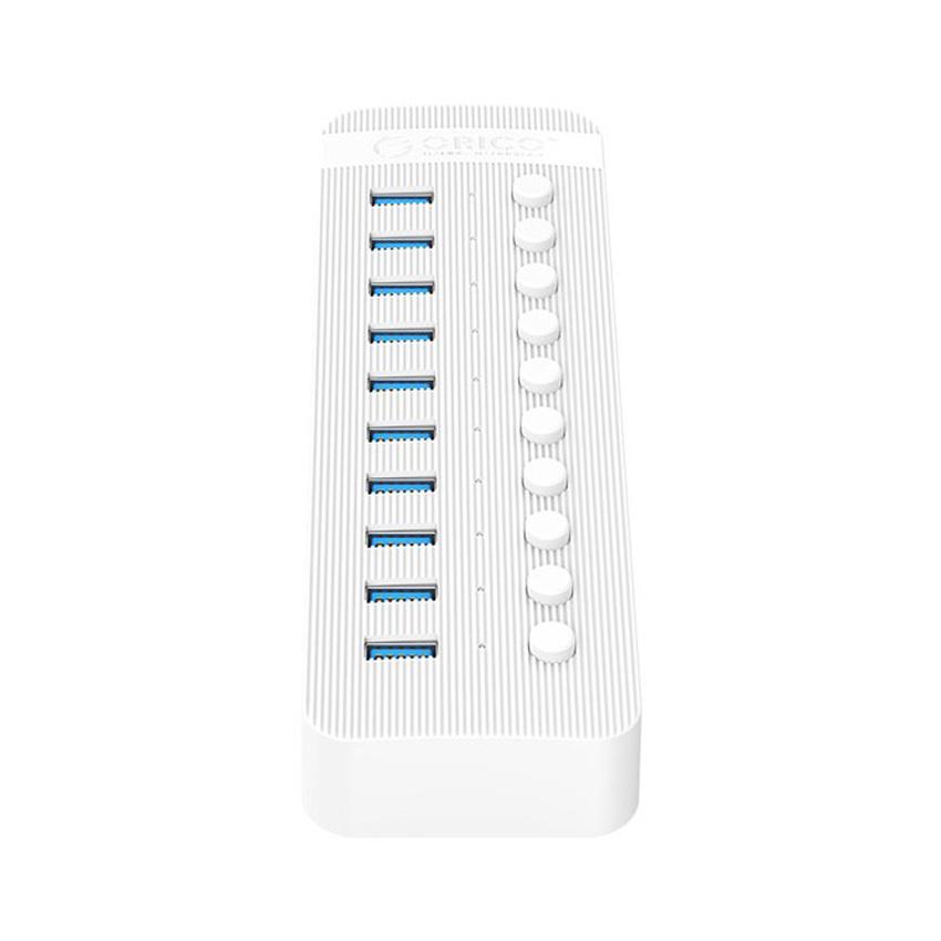 Bộ Chia USB Orico CT2U3-10AB-WH (Từ 1 Ra 10 Cổng USB 3.0 Vỏ nhôm)