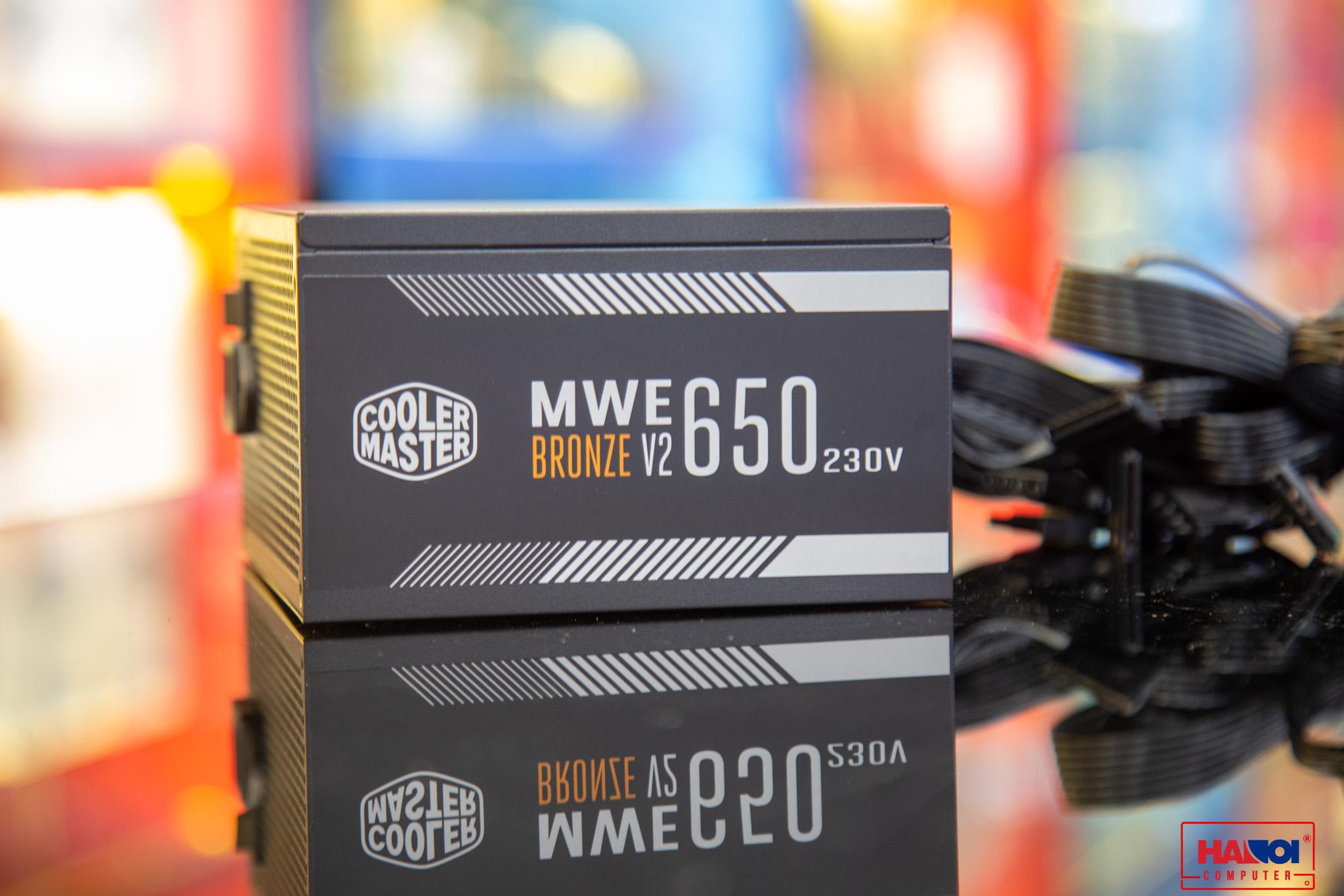 Nguồn máy tính Cooler Master MWE V2 230V 650 650W Plus Bronze  (80 Plus Bronze/Màu Đen)