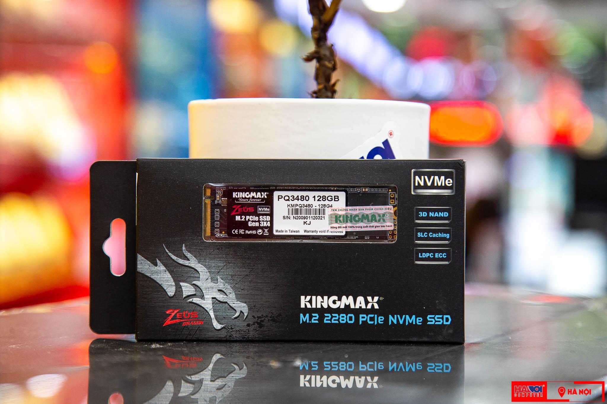 Ổ cứng SSD Kingmax Zeus PQ3480 128GB M.2 2280 PCIe NVMe Gen 3x4