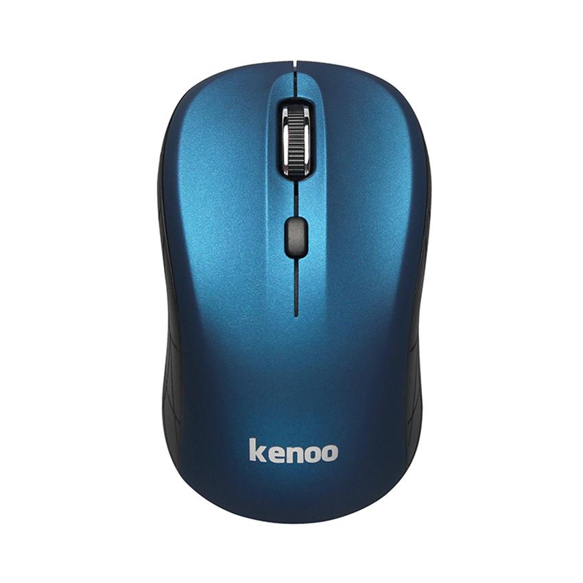 Chuột không dây Kenoo M102 (USB/Xanh Đen/1 pin rời)