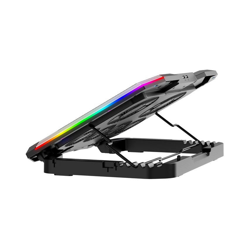 Đế làm mát laptop BAMBA B8 - Led RGB (6 quạt)