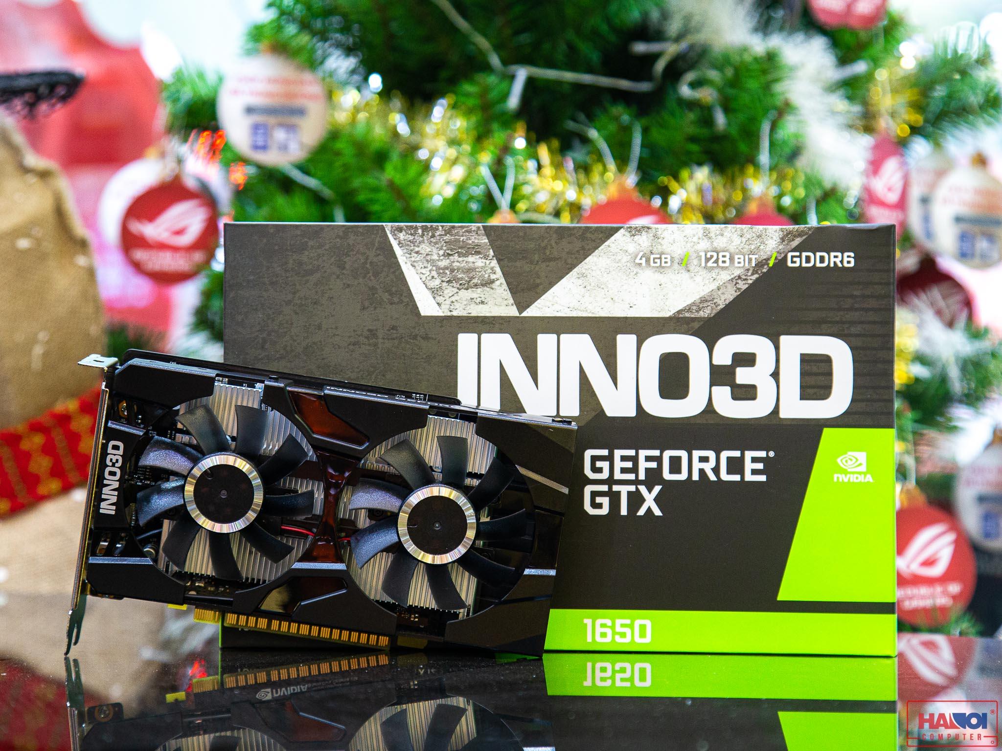 ard màn hình Inno3D GTX 1650 TWIN X2 OC 4GB GDDR6