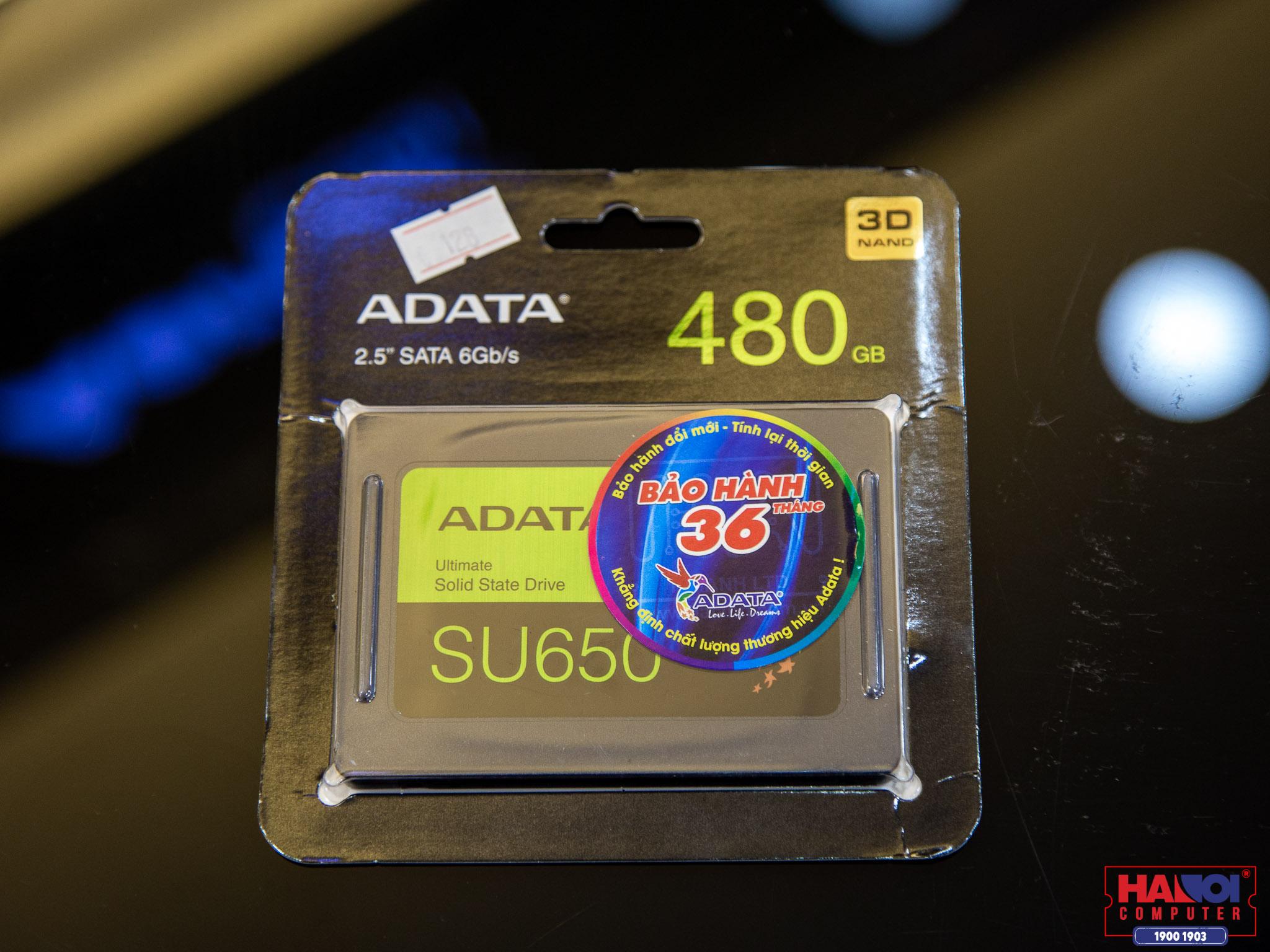 SSD Adata SU650 480GB SATA3 2.5 inch (Đọc 520MB/s, Ghi 450MB/s) - (ASU650SS-480GT-R)
