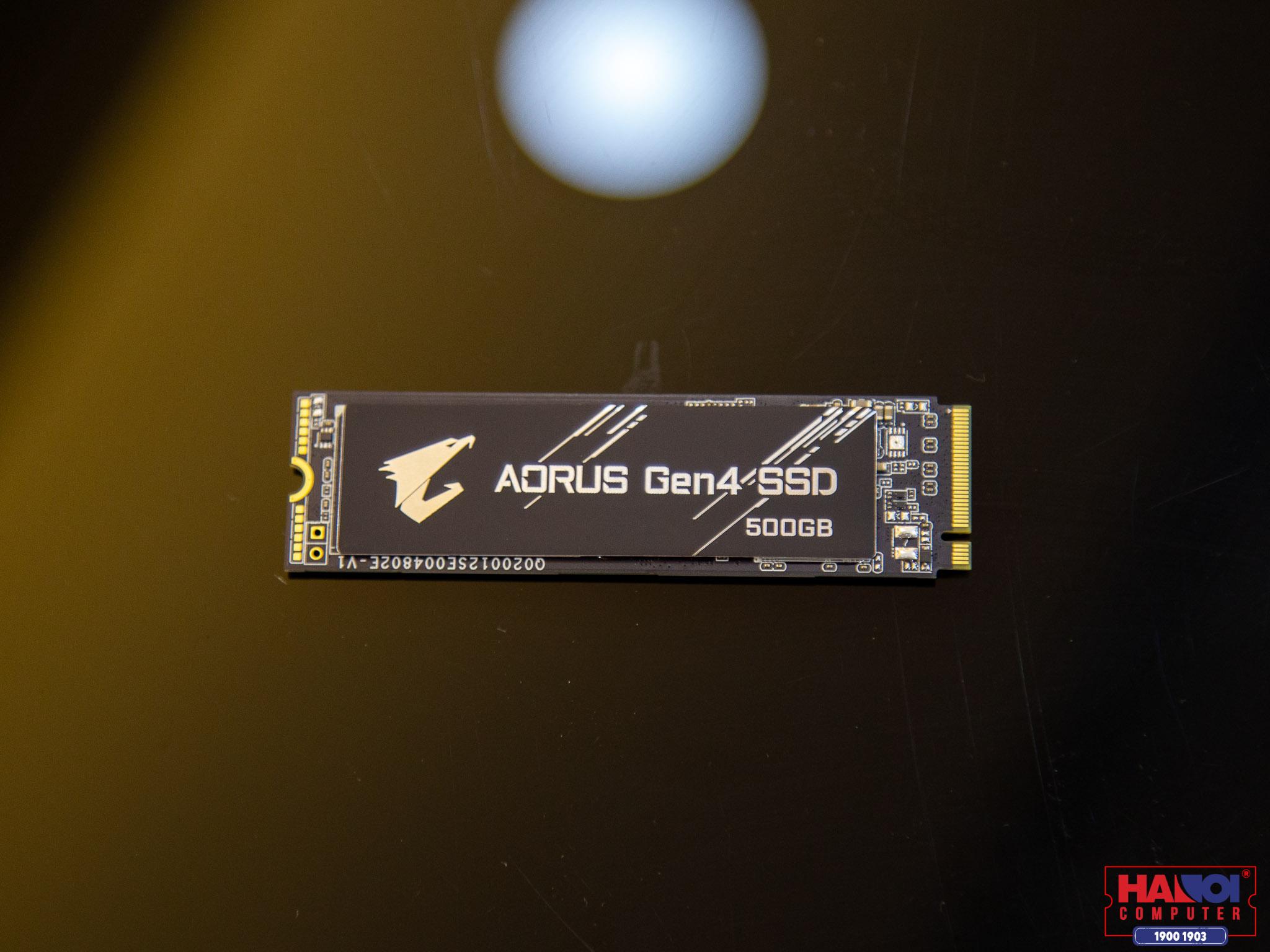 Ổ cứng SSD Gigabyte AORUS 500GB PCIe Gen 4.0x4 (Đọc 5000MB/s, Ghi 2500MB/s - (GP-AG4500G)