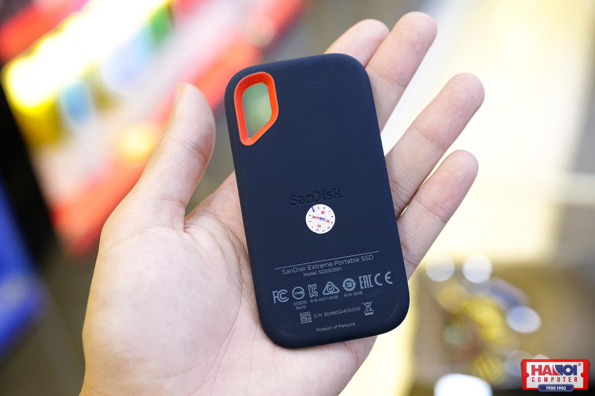Ổ cứng gắn ngoài SSD 1TB Sandisk Extreme Portable SDSSDE61-1T00-G25