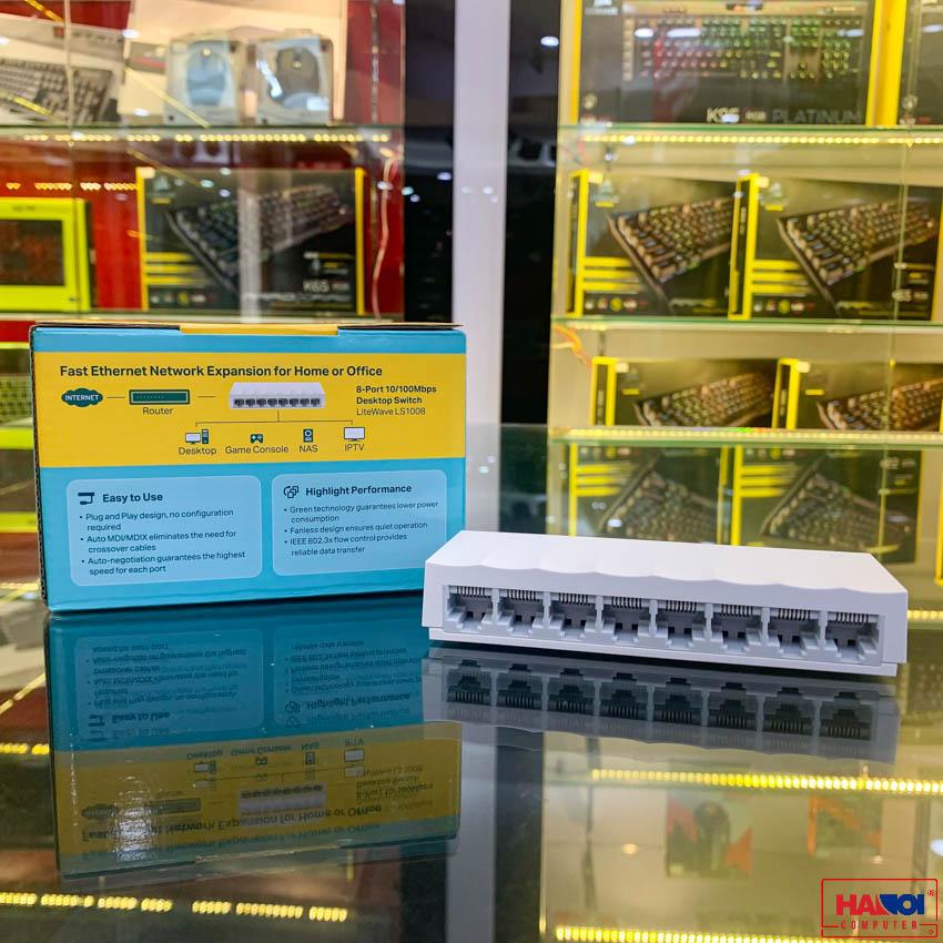 Switch TP-Link LS1008 8 Port 10/100Mbps vỏ nhựa