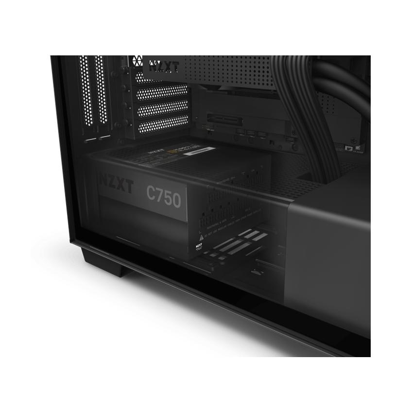 Nguồn máy tính NZXT C750M - 750W Gold full modular (Màu Đen)