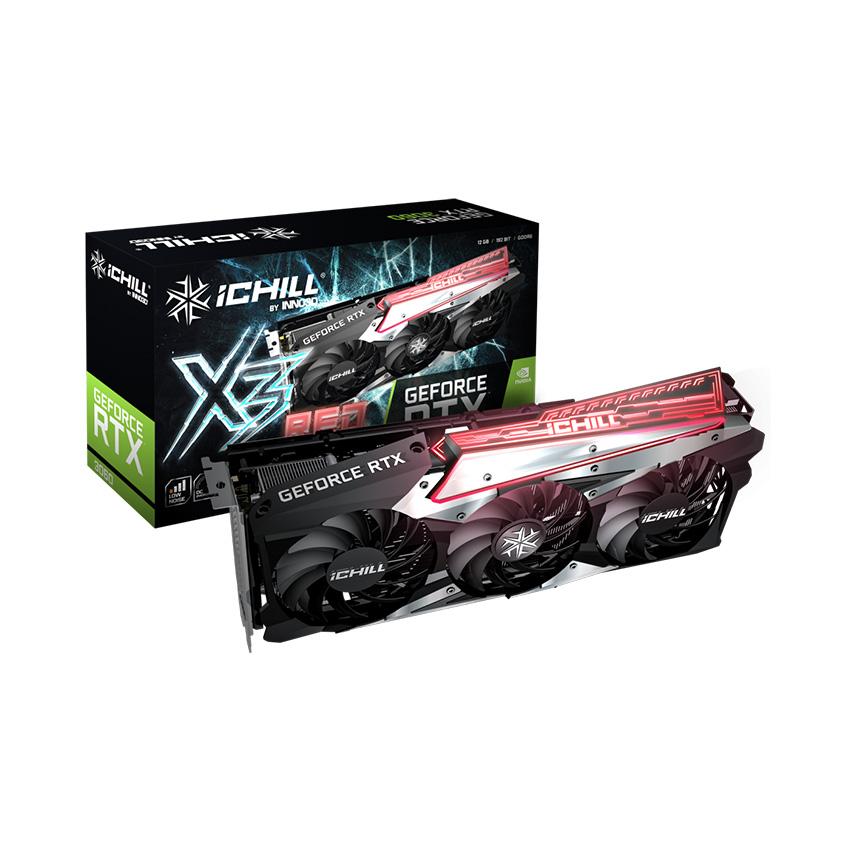 Card màn hình Inno3D RTX 3060 ICHILL X3 RED 12GB (LHR)
