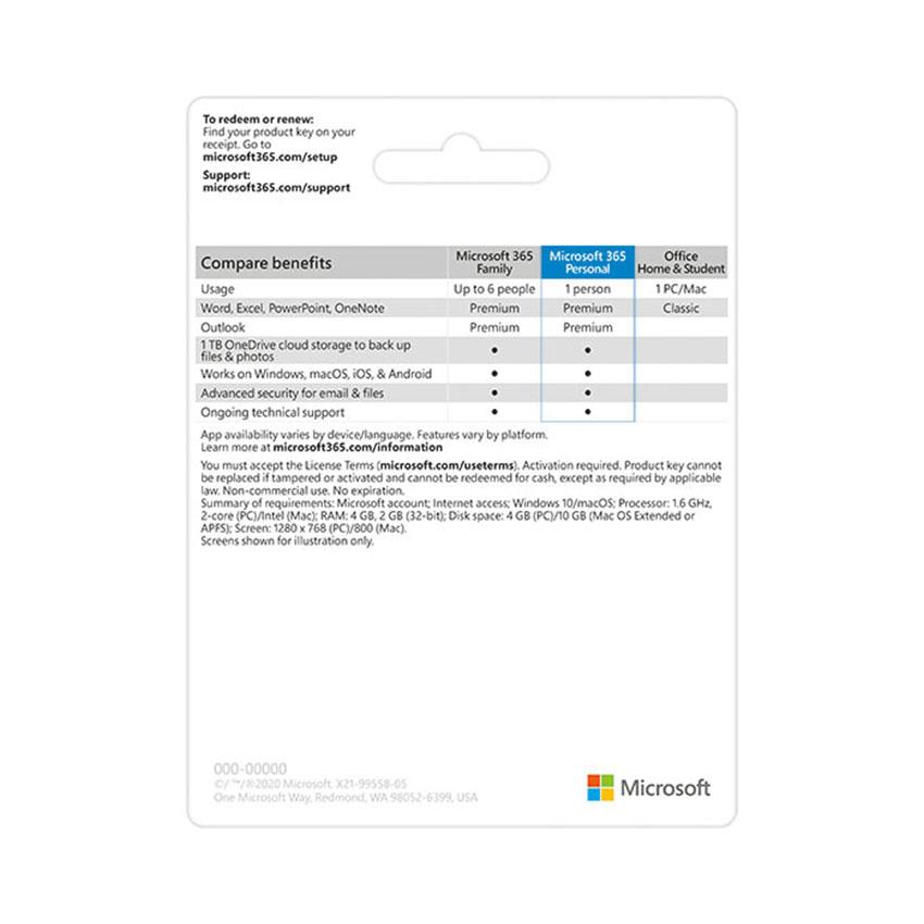 Phần mềm Microsoft 365 Personal (QQ2-00003) - Key điện tử ảnh 2